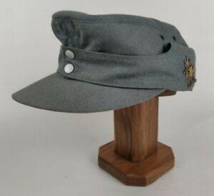 German Army Bundeswehr Mountain Troops Gray M43 Field Cap Hat  W/ Edelweiss 1980
