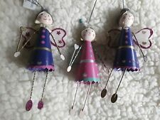 3 x Tin Fairy/Angel Hanging Decoration Doll RRP £5.00 each Brand New