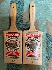 """LOT OF 2– 3"""" WOOSTER T3406 ALL PAINTS PROFESSIONAL PAINT BRUSHES MADE IN USA"""