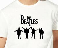 T shirt des beatles pour homme musique Star du rock 100% coton noir et blanc HQ