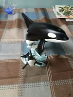 """Vintage Orca """"Killer Whale"""" /Dolphin Family """"Breaching the Waters * 1994"""