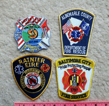 4 fire department patches from various locations > NC, VA, MD, WA > firefighting