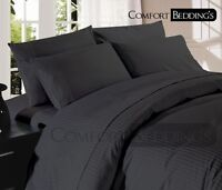 Hotel Collection Bedding Set- 1000TC Charcoal Grey 100% Egyptian Cotton Sheets1