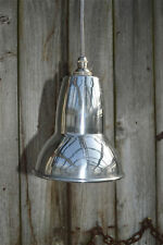 Cool 1930's design small pendant hanging light polished metal shade APSR4