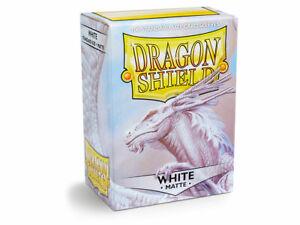 (100) Dragon Shield MATTE STANDARD Size Card Sleeves - White AT-11005