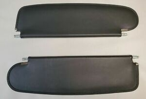 NEW 1955-1957 Chevrolet Bel-Air Convertible Black Vinyl Sun Visors - Pair