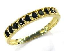 SYTRUEMECO BEAUTIFUL 9KT YELLOW GOLD NATURAL SAPPHIRE BAND RING SIZE 7   R1086