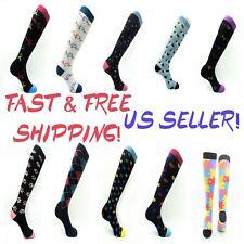 Womens Compression Socks 15-20 mmhg Sports Knee High for Running Fitness Mens