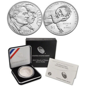 2015-P March of Dimes Commemorative Uncirculated Silver Dollar