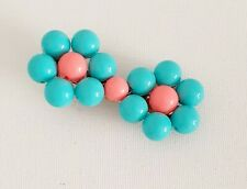 Turquoise Pink Floral Flower Bead Hair Clip Slide Other Bloggers Stories
