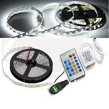5M 5050 12V 300leds LED Strip Light Tape Full Kit+IR Dimmer Controller+5A power