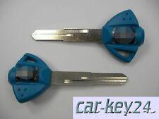 Suzuki GSXR 750 600 1300 DL650 GSX R K6 K8 Blau Schlüssel Rohling Neu