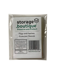 storage.boutique Flags and Patches Protection Sleeves, Acid Free, Various Sizes