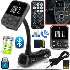 Kit para auto inalámbrico transmisor FM Bluetooth manos libres reproductor de MP3 USB SD LCD remoto