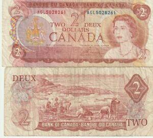 CANADA  $2 DOLLAR 1974  BANKNOTES
