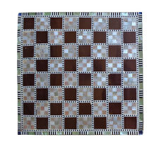 """Egyptian Handmade Wooden Chess Board 11.9"""" Inlaid Inlay Mother Of Pearl Mosaic"""