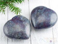 RUBY & KYANITE Heart Crystal Carving - Housewarming Gift, Healing Crystals E1186