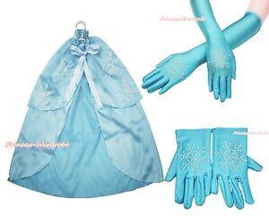 Baby Girl Princess Elsa Rhinestone Snowflake Cape Glove Costume Set
