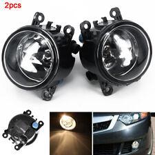 Driver Passenger Sides Fog Light Lamps H11 Bulbs Fit For Acura Honda Ford Nissan