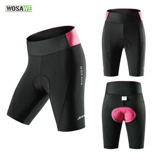 Women Cycling Shorts Gel Padded Breathable Biker Bicycle Riding Sportswear Pants