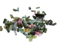 44 Cts 100% NATURAL Multi Color TOURMALINE STICK ROUGH GEMSTONE LOOSE RAW LOT