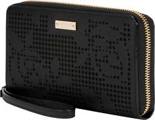 NEW Kate Spade New York Zip Wristlet Wallet & Universal Phone Case Rose Black
