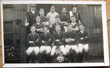 1917 Football/Soccer Realphoto Team Photo Postcard, UK Back