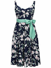 Joe Browns Navy Peggy Sue Vintage Style Dress - Plus Size 16 to 32 24