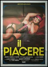 "THE PLEASURE 1985 Original Movie Poster 39x55"" 2Sh Italian JOE D'AMATO SEXY HARD"
