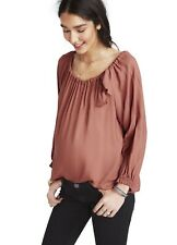 Hatch Maternity Women's THE LAETITIA BLOUSE Sienna Pink Size 1 (S/4-6) NEW