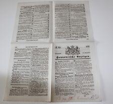 antike Zeitung, Hannoversche Anzeigen, Hannover 1854  #H305