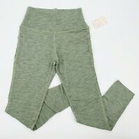 NWT Free People Movement Sz L Fade Into You Leggings in Cameo Sage High Waisted