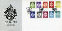 Gibraltar Coat of Arms Stamps FDC 2020 Crests Definitives Heraldry 10v Set