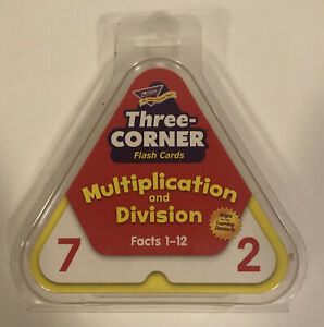 Three Corner Flash Cards 46 Pack Multiplication And Division Facts 1-12
