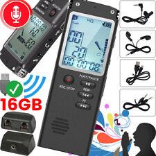 16GB Digital Diktiergerät Tragbar Aufnahmegerät MP3 Audio Sound Voice Recorder