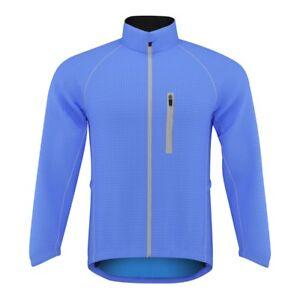 Women Cycling/Running Rain Jacket High Visibility Breathable Wind/Waterproof(Blu