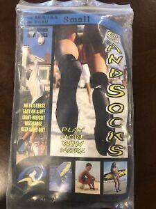 Sand Socks Small Classic High Top Neoprene Athletic Socks - Blue Lightning