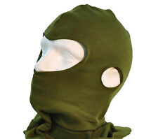 BRITISH ARMY BALACLAVA - GREEN - THERMAL - NEW - FR AFV CREW - FISHING - BIKERS