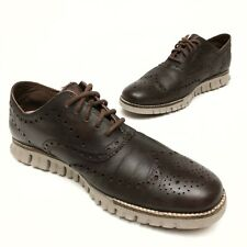 @@ COLE HAAN Grand Os Zerogrand Oxford Wingtip Brown Leather Men's Shoe 9.5M EUC