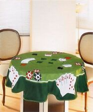 Velour Table Cloth (Towel) Cards II 63 inches Round Made in Brazil