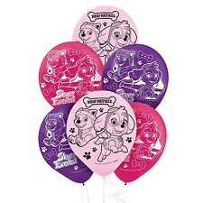PAW PATROL GIRLS HELIUM QUALITY LATEX BALLOONS PACK OF 6 BIRTHDAY PARTY SUPPLIES