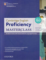 CAMBRIDGE ENGLISH PROFICIENCY (CPE) MASTERCLASS Student's Book NEW for 2013 Exam