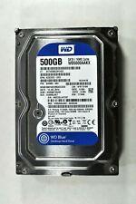 "HDD 500GB 3.5"" Desktop Western Digital WD5000AAKX-60U6AA0 Ready For Reuse LOT-B"