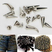 10Sets Metal Spikes Punk Rivets Screw Studs For DIY Jacket Leather Shoes Craft