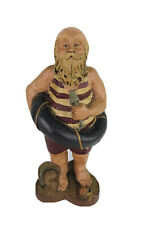 Sarahs Attic Seaside Santa Resin Collectible Figurine 1988 #A494 Beach