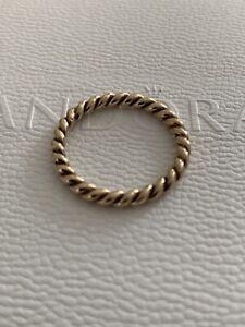 PANDORA 14kt Gold Rope Ring