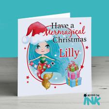 Personalised Mermaid Christmas Card - Have A Christmas - Cute Mermaid Card