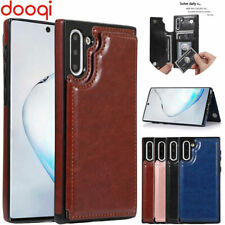 For Samsung Galaxy Note 10 Plus Shockproof Leather Wallet Card Slot Flip Case