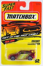 Matchbox MB 52 Escort Cosworth Red New On Card 1996