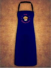 Personalised Cup Cake Baking Queen Christmas Present Gift  Apron Gift - Navy